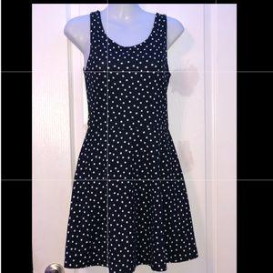 """Navy blue and white """"skater girl"""" style dress"""